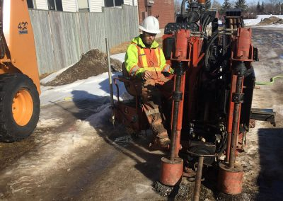 laying power cable