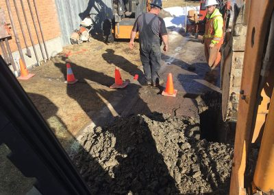trenching for installation of power lines